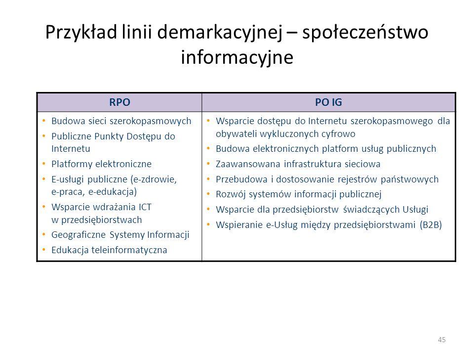 Przykład linii demarkacyjnej – społeczeństwo informacyjne