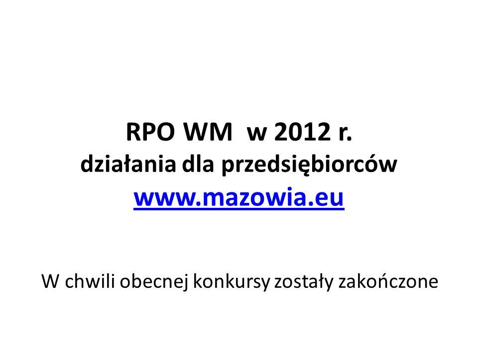 działania dla przedsiębiorców www.mazowia.eu