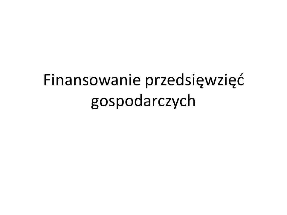 Finansowanie przedsięwzięć gospodarczych