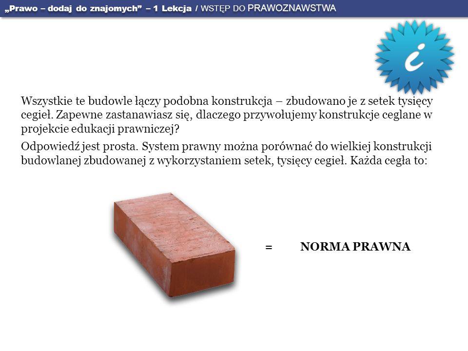"""""""Prawo – dodaj do znajomych – 1 Lekcja / WSTĘP DO PRAWOZNAWSTWA"""