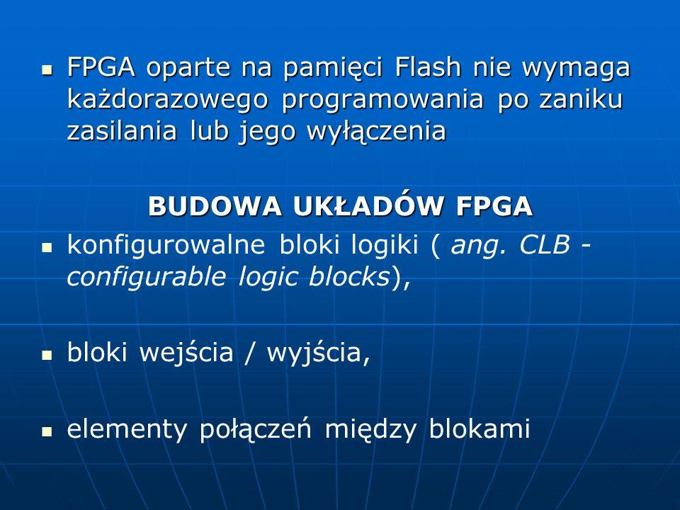 FPGA oparte na pamięci Flash nie wymaga każdorazowego programowania po zaniku zasilania lub jego wyłączenia