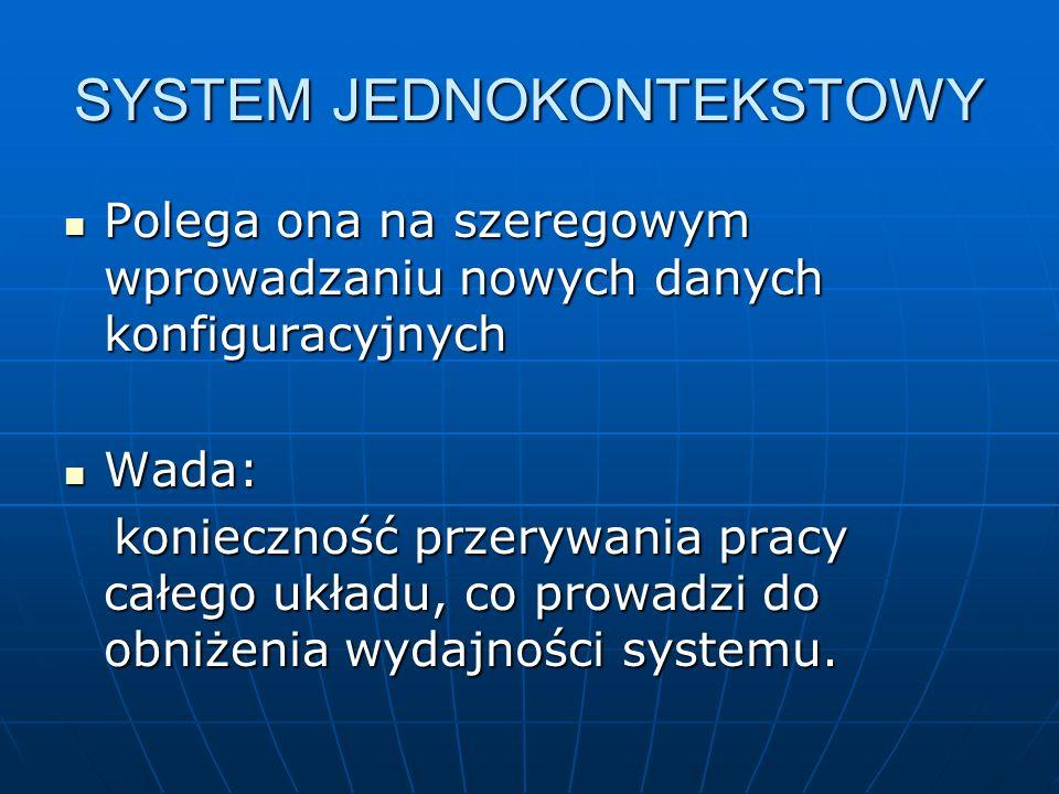 SYSTEM JEDNOKONTEKSTOWY