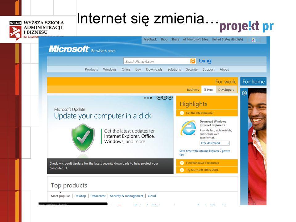 Internet się zmienia…