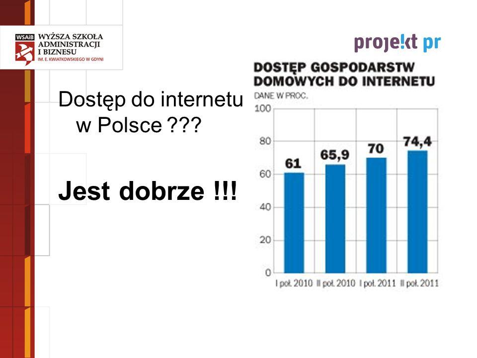 Jest dobrze !!! Dostęp do internetu w Polsce