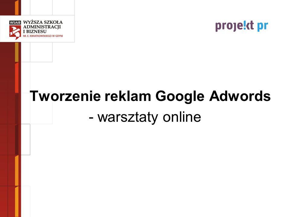 Tworzenie reklam Google Adwords
