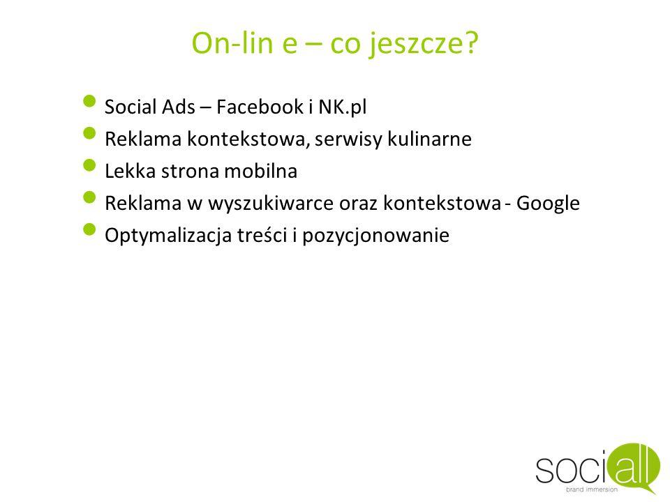 On-lin e – co jeszcze Social Ads – Facebook i NK.pl