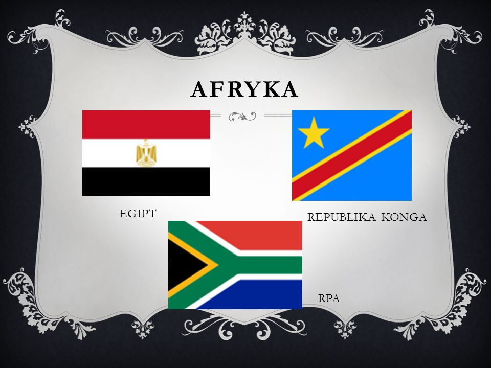 aFRYKA EGIPT REPUBLIKA KONGA RPA