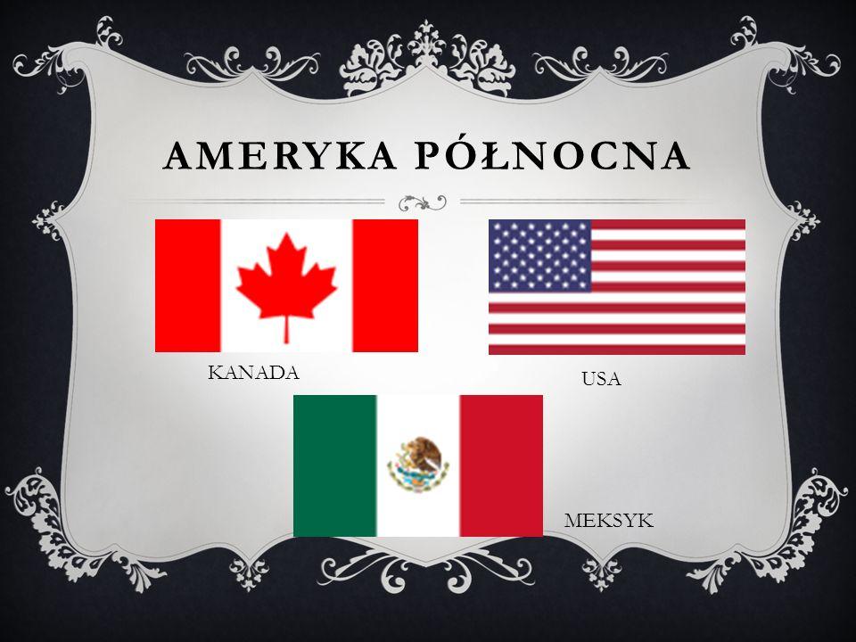 Ameryka północna KANADA USA MEKSYK