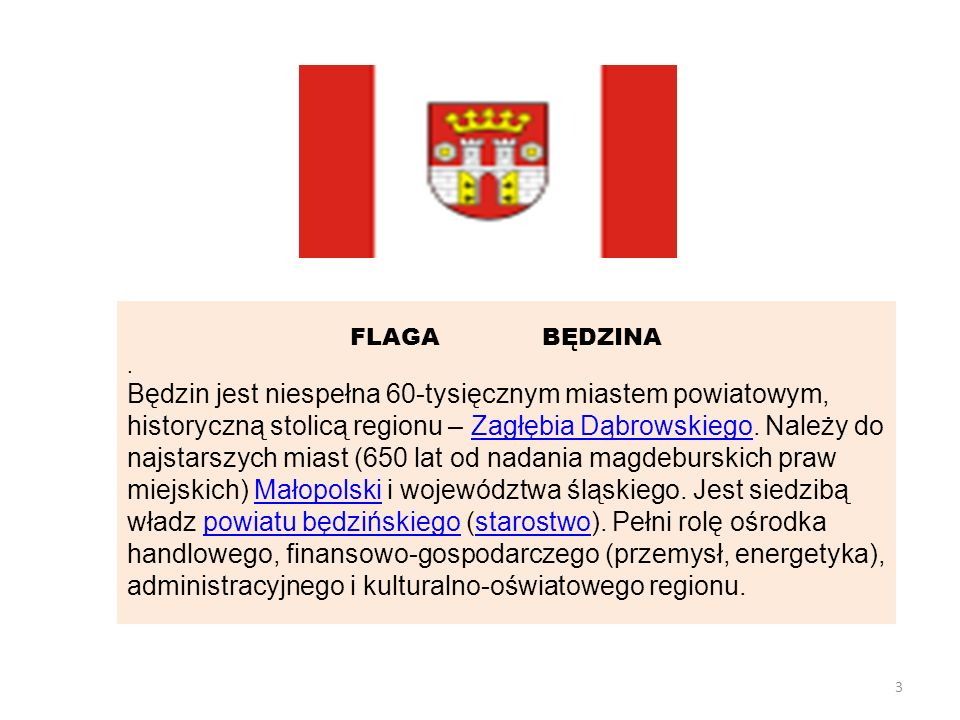 FLAGA BĘDZINA .