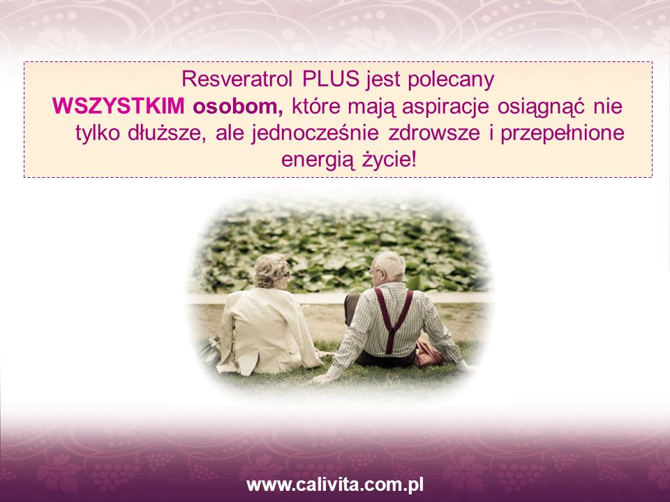 Resveratrol PLUS jest polecany