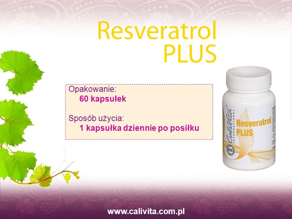 www.calivita.com.pl Opakowanie: 60 kapsułek Sposób użycia: 1 kapsułka dziennie po posiłku