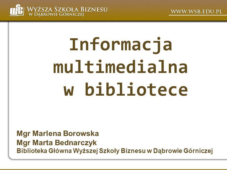 Informacja multimedialna w bibliotece