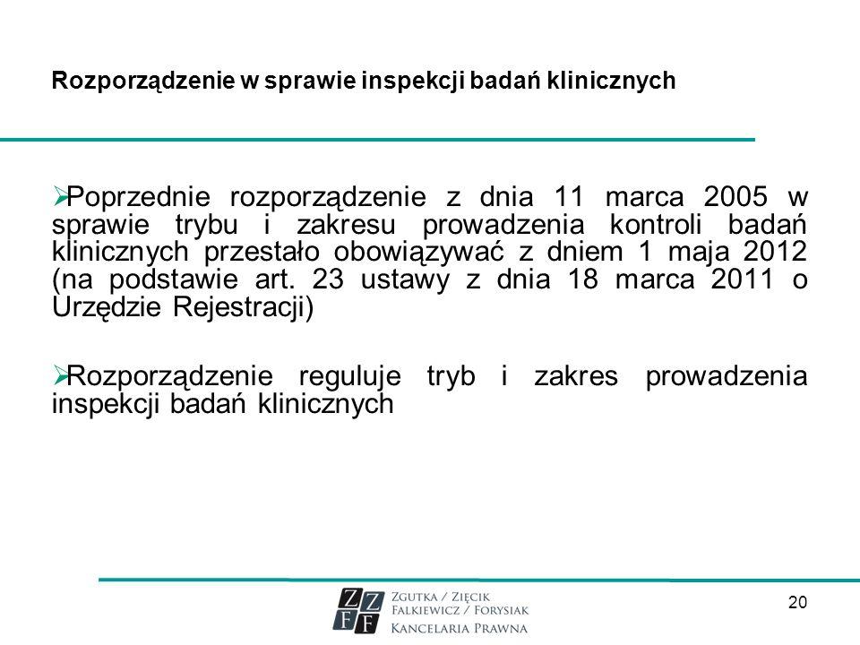 Rozporządzenie w sprawie inspekcji badań klinicznych