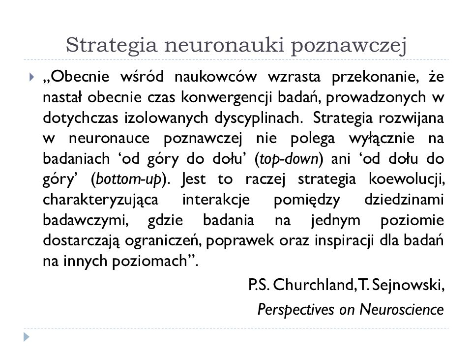 Strategia neuronauki poznawczej