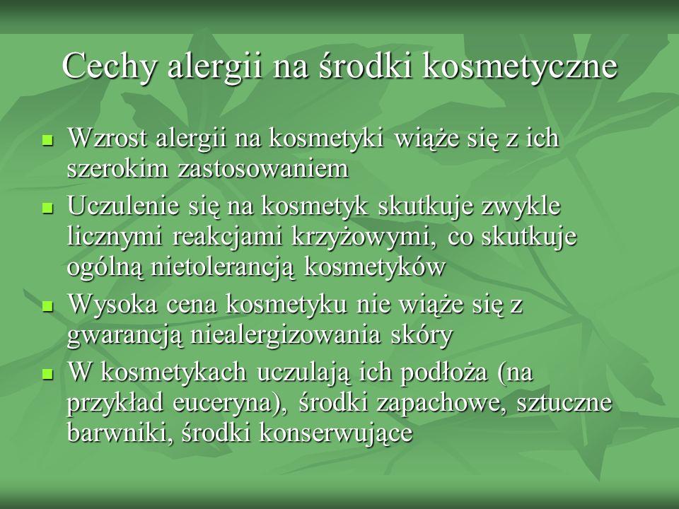 Cechy alergii na środki kosmetyczne