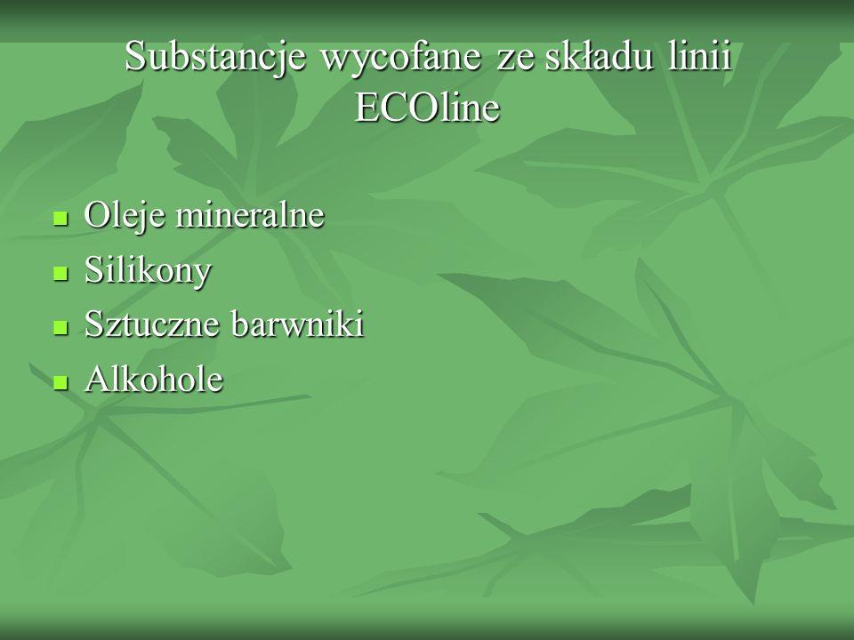 Substancje wycofane ze składu linii ECOline