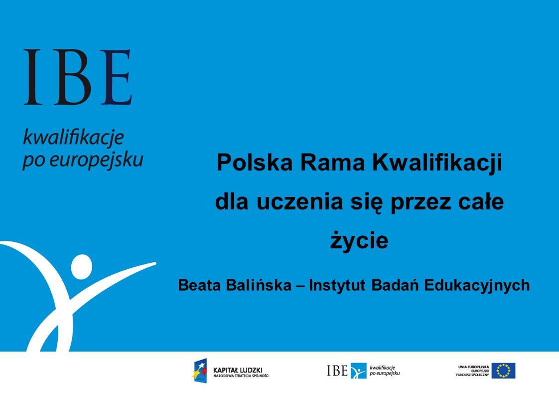 Polska Rama Kwalifikacji dla uczenia się przez całe życie