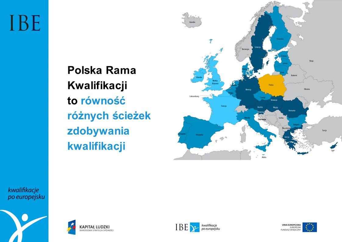 Polska Rama Kwalifikacji to równość różnych ścieżek zdobywania kwalifikacji