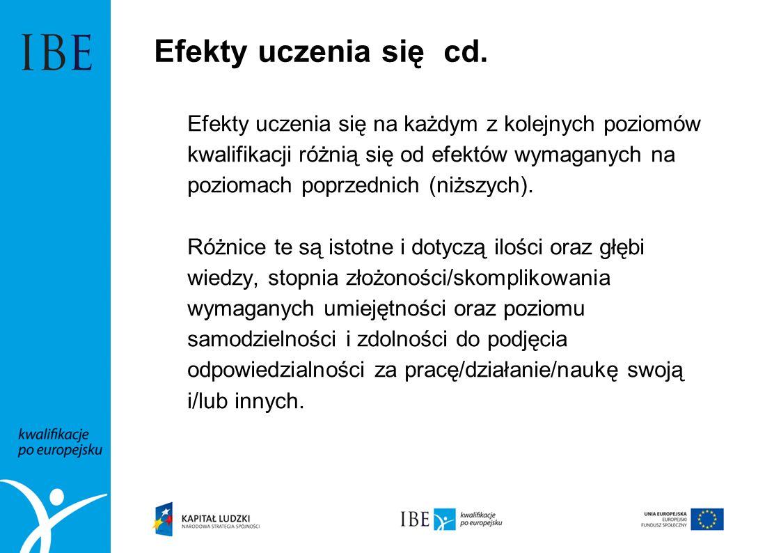 Efekty uczenia się cd.