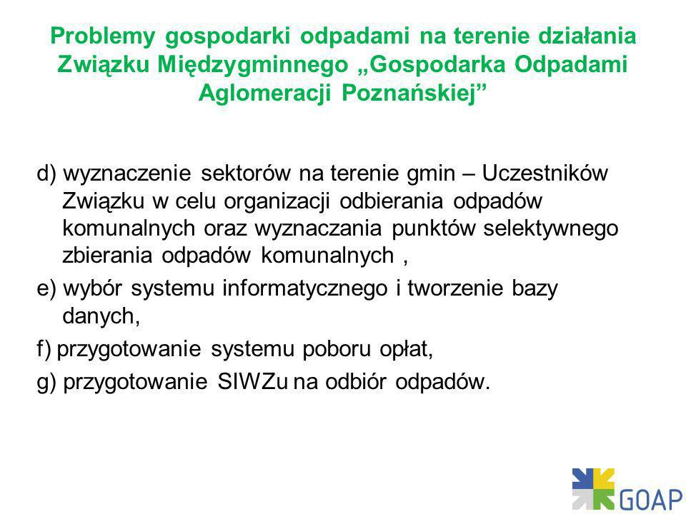 """Problemy gospodarki odpadami na terenie działania Związku Międzygminnego """"Gospodarka Odpadami Aglomeracji Poznańskiej"""