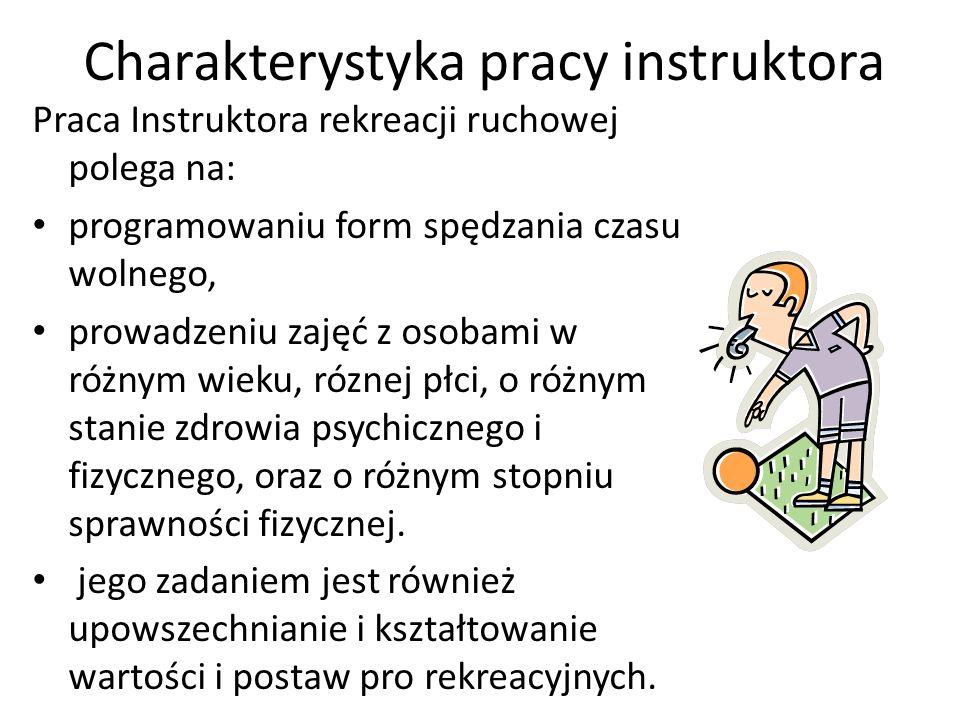 Charakterystyka pracy instruktora