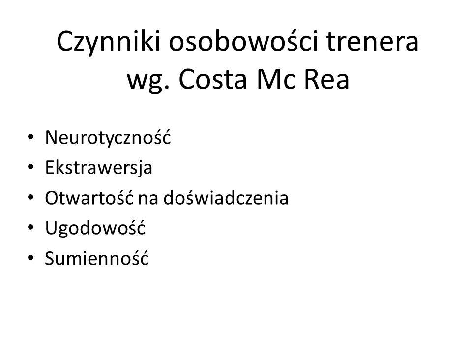 Czynniki osobowości trenera wg. Costa Mc Rea