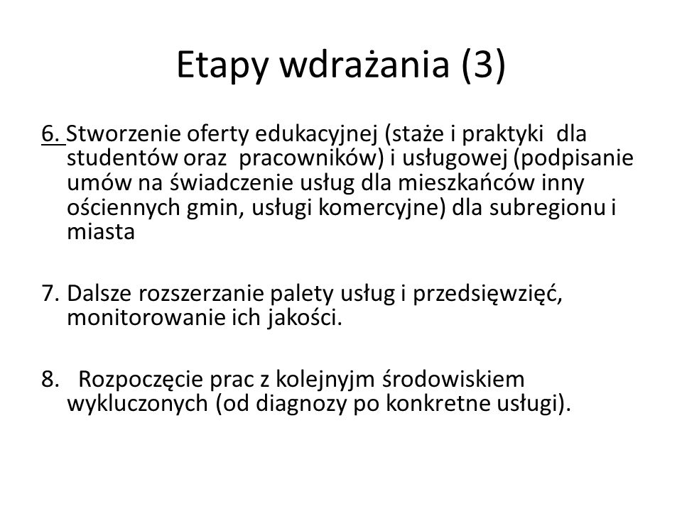 Etapy wdrażania (3)
