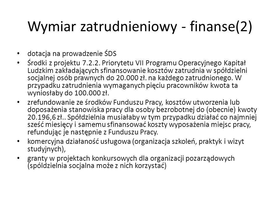Wymiar zatrudnieniowy - finanse(2)