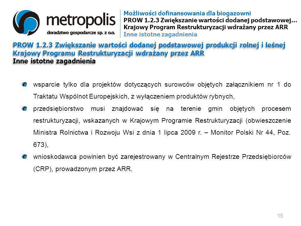 Krajowy Programu Restrukturyzacji wdrażany przez ARR