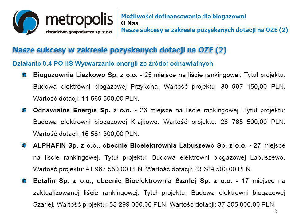 Nasze sukcesy w zakresie pozyskanych dotacji na OZE (2)