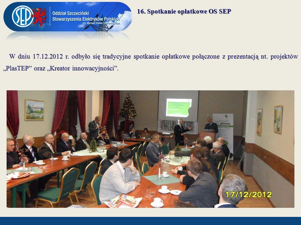 16. Spotkanie opłatkowe OS SEP