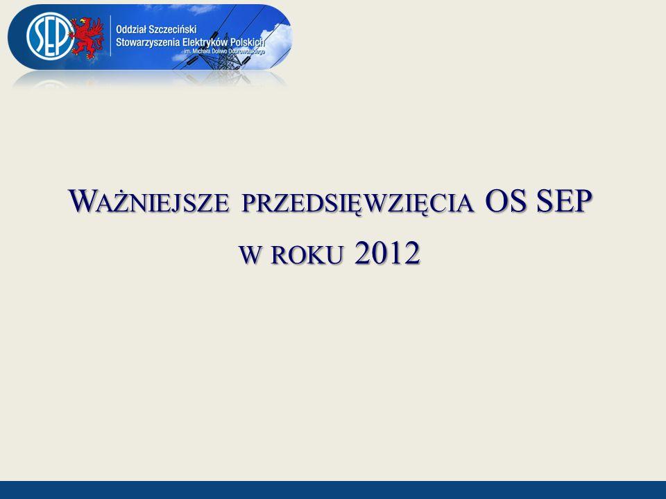 Ważniejsze przedsięwzięcia OS SEP w roku 2012