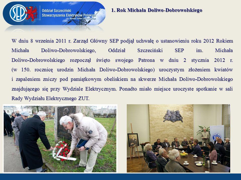 1. Rok Michała Doliwo-Dobrowolskiego