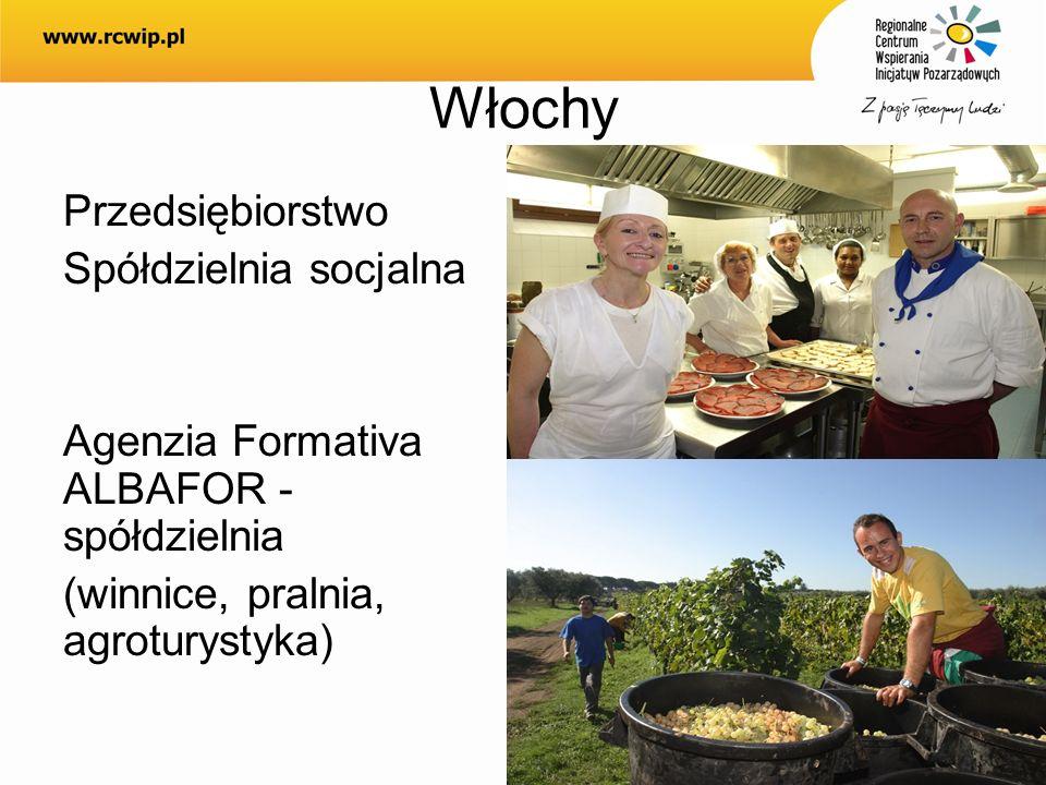 WłochyPrzedsiębiorstwo Spółdzielnia socjalna Agenzia Formativa ALBAFOR - spółdzielnia (winnice, pralnia, agroturystyka)