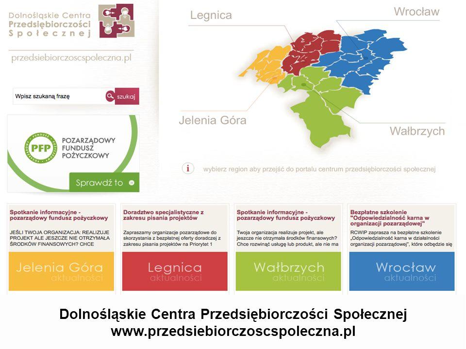 Dolnośląskie Centra Przedsiębiorczości Społecznej www