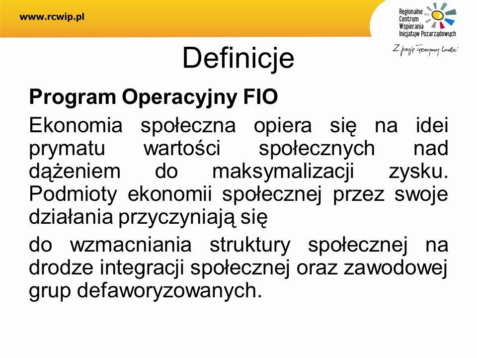 Definicje Program Operacyjny FIO