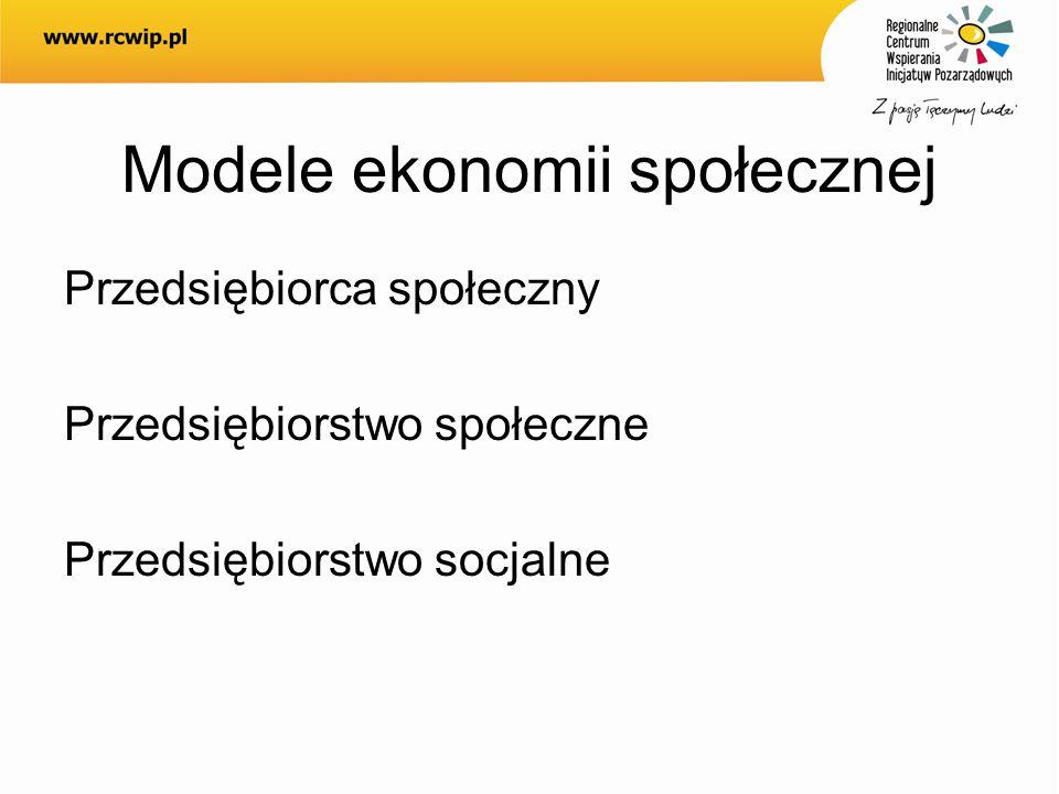 Modele ekonomii społecznej