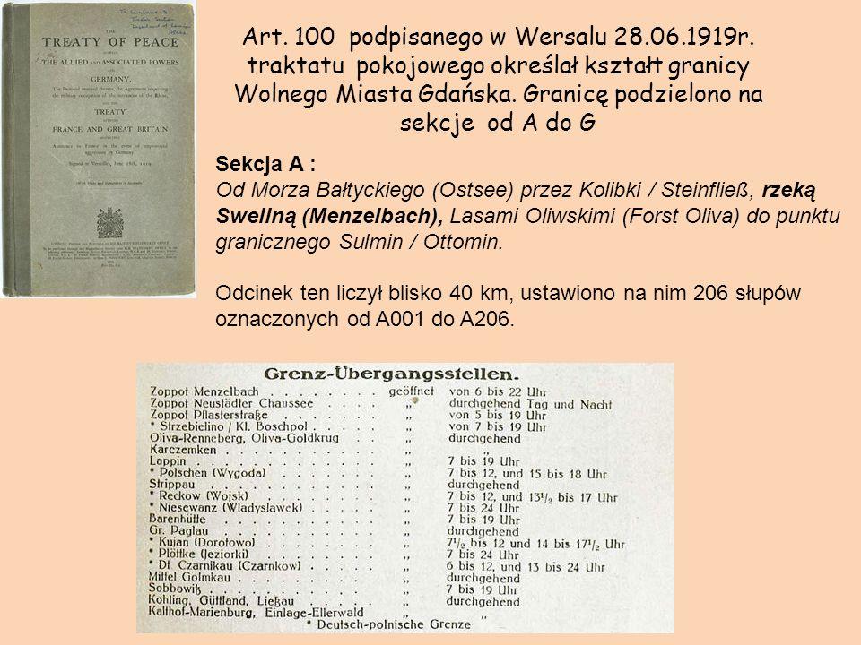 Art. 100 podpisanego w Wersalu 28. 06. 1919r