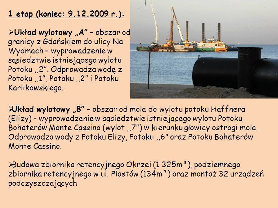 1 etap (koniec: 9.12.2009 r.):