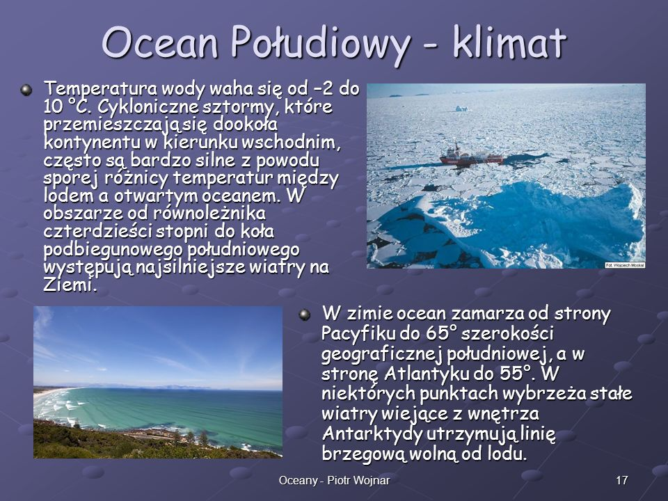 Ocean Połudiowy - klimat