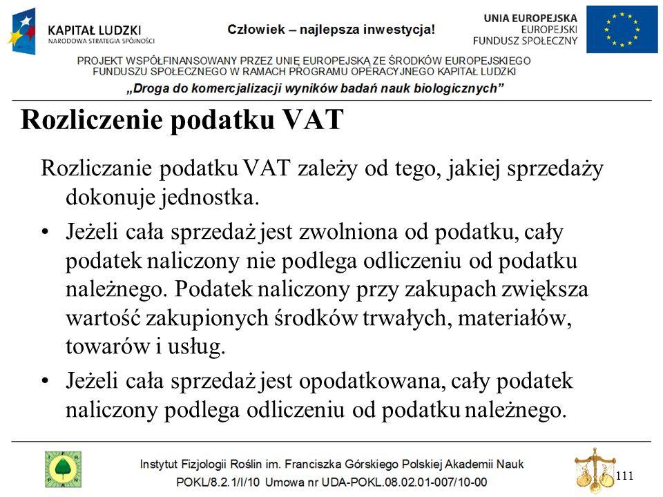 Rozliczenie podatku VAT