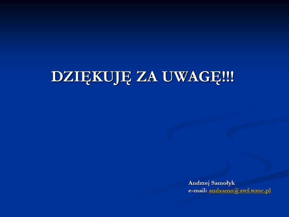 Andrzej Samołyk e-mail: andsamo@awf.wroc.pl