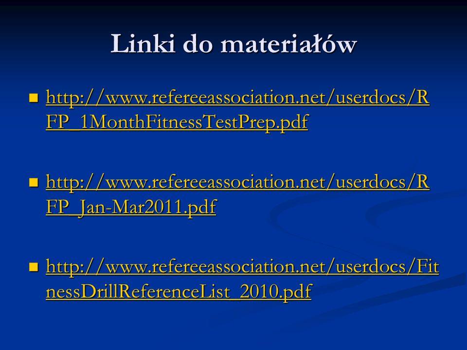 Linki do materiałówhttp://www.refereeassociation.net/userdocs/RFP_1MonthFitnessTestPrep.pdf.