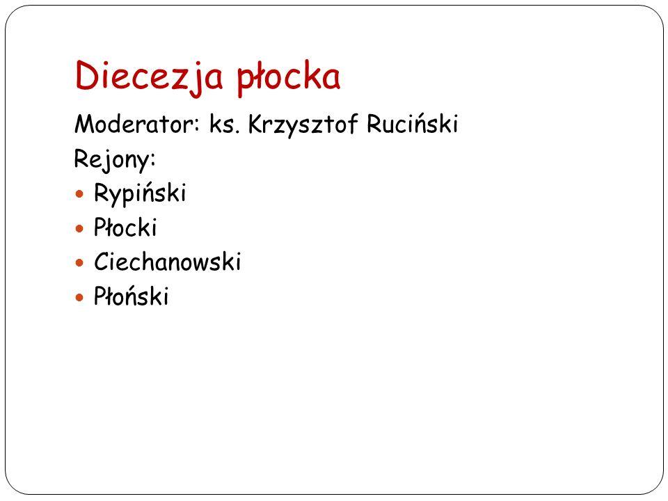 Diecezja płocka Moderator: ks. Krzysztof Ruciński Rejony: Rypiński