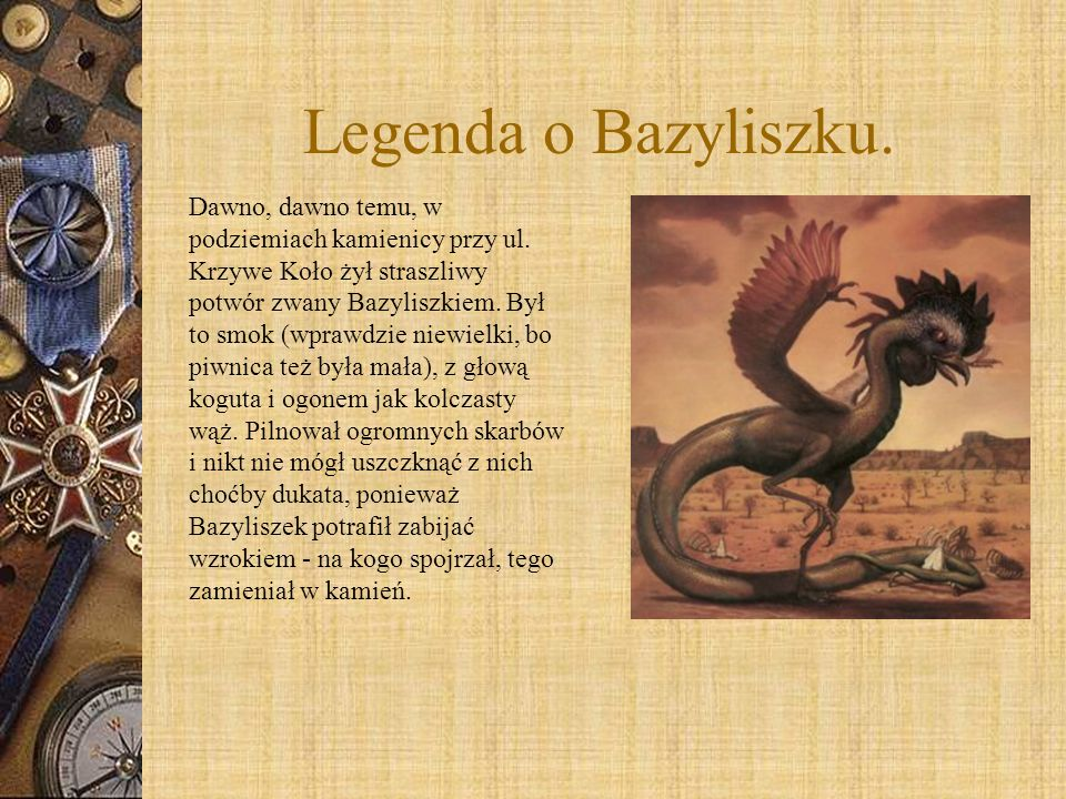 Legenda o Bazyliszku.