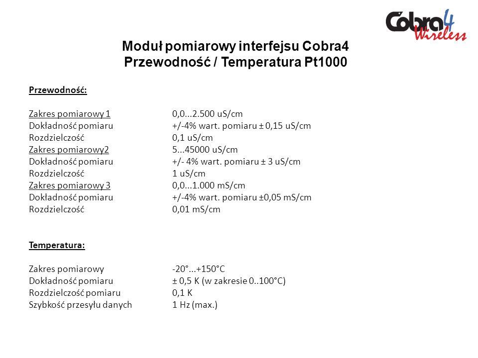 Moduł pomiarowy interfejsu Cobra4 Przewodność / Temperatura Pt1000