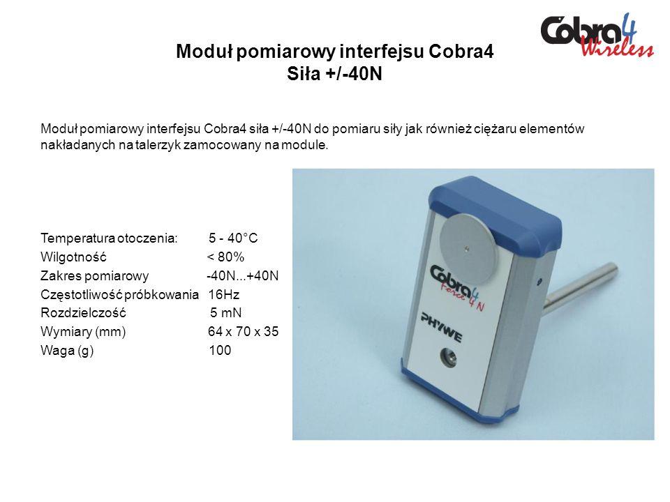 Moduł pomiarowy interfejsu Cobra4 Siła +/-40N