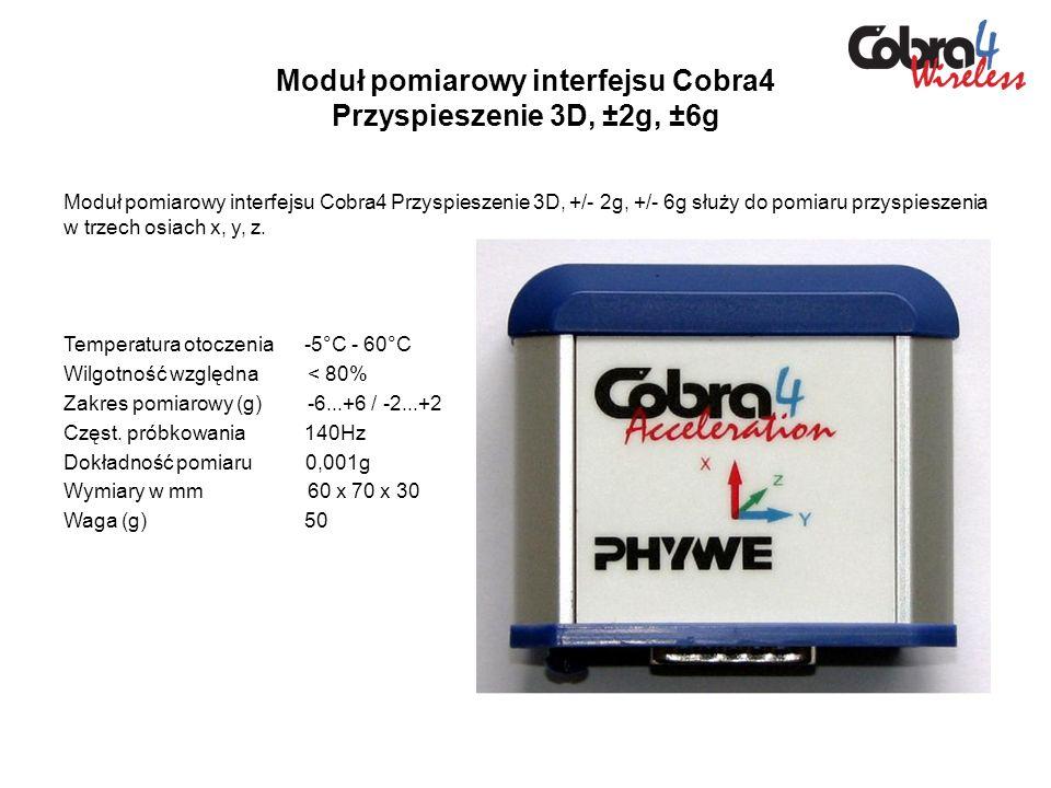 Moduł pomiarowy interfejsu Cobra4 Przyspieszenie 3D, ±2g, ±6g