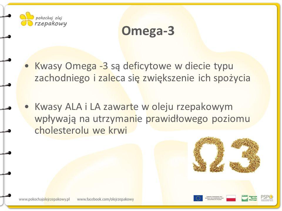 Omega-3 Kwasy Omega -3 są deficytowe w diecie typu zachodniego i zaleca się zwiększenie ich spożycia.