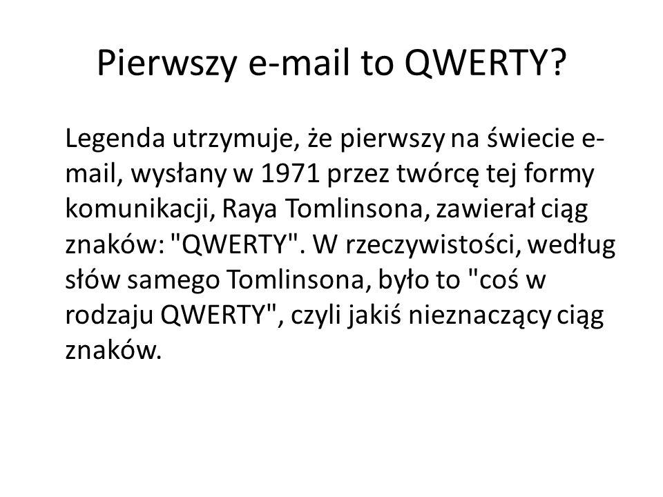 Pierwszy e-mail to QWERTY